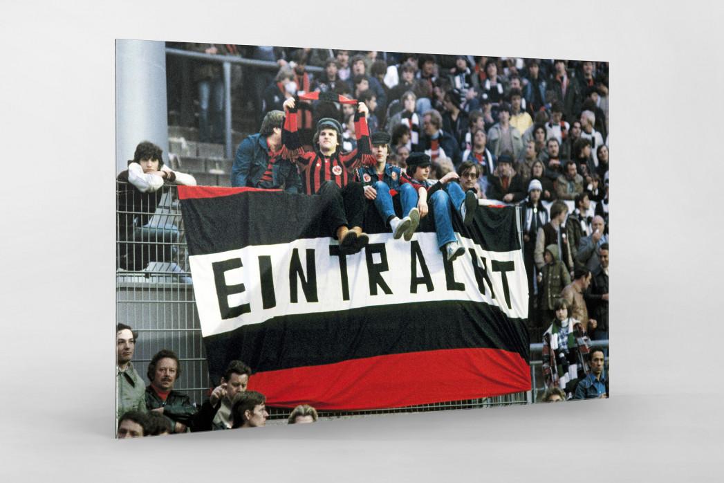 Frankfurt Fans 1980 als Direktdruck auf Alu-Dibond hinter Acrylglas