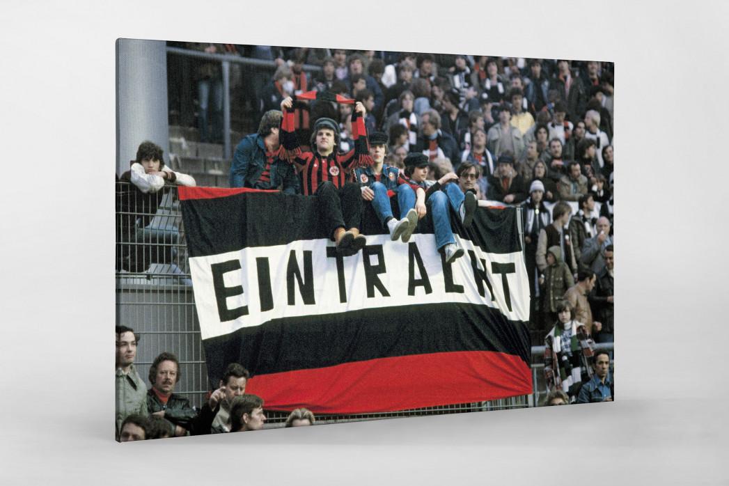 Frankfurt Fans 1980 als Leinwand auf Keilrahmen gezogen