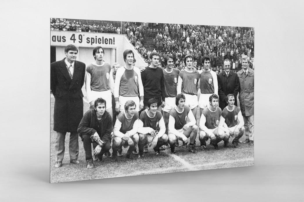 Jena FDGB-Pokalsieger 1972 als auf Alu-Dibond kaschierter Fotoabzug
