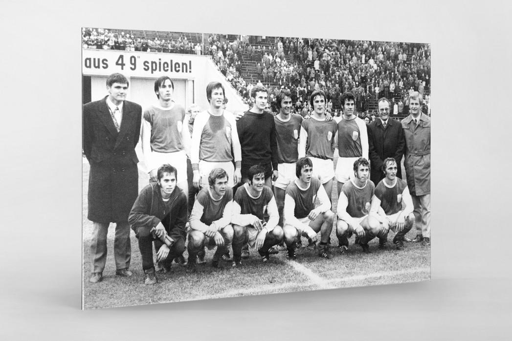 Jena FDGB-Pokalsieger 1972 als Direktdruck auf Alu-Dibond hinter Acrylglas