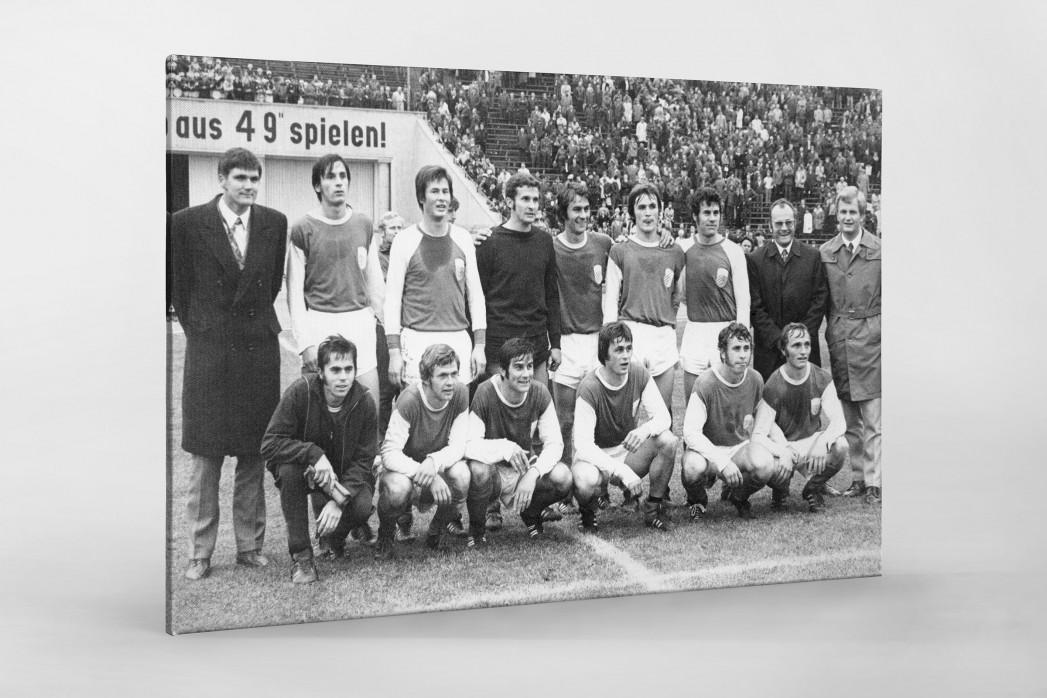 Jena FDGB-Pokalsieger 1972 als Leinwand auf Keilrahmen gezogen