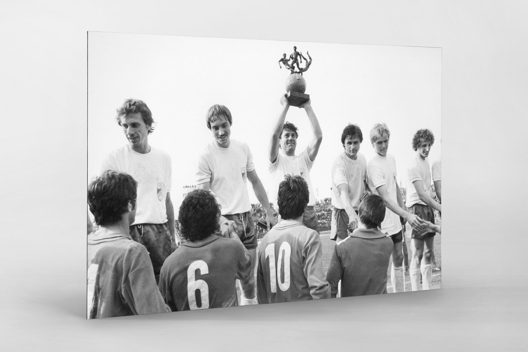 Jena FDGB-Pokalsieger 1980 als auf Alu-Dibond kaschierter Fotoabzug