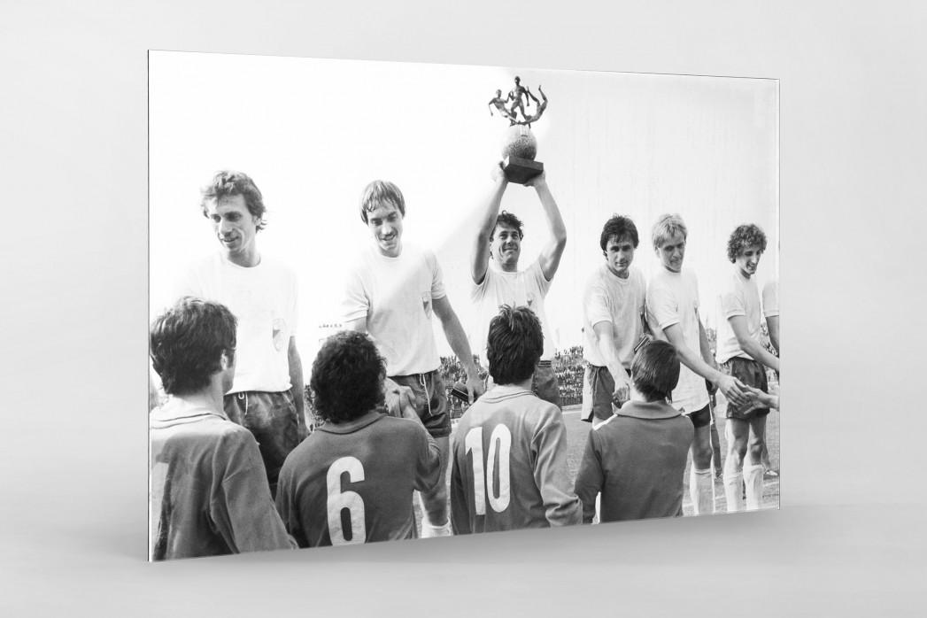 Jena FDGB-Pokalsieger 1980 als Direktdruck auf Alu-Dibond hinter Acrylglas