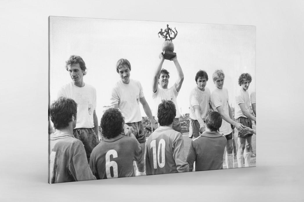 Jena FDGB-Pokalsieger 1980 als Leinwand auf Keilrahmen gezogen