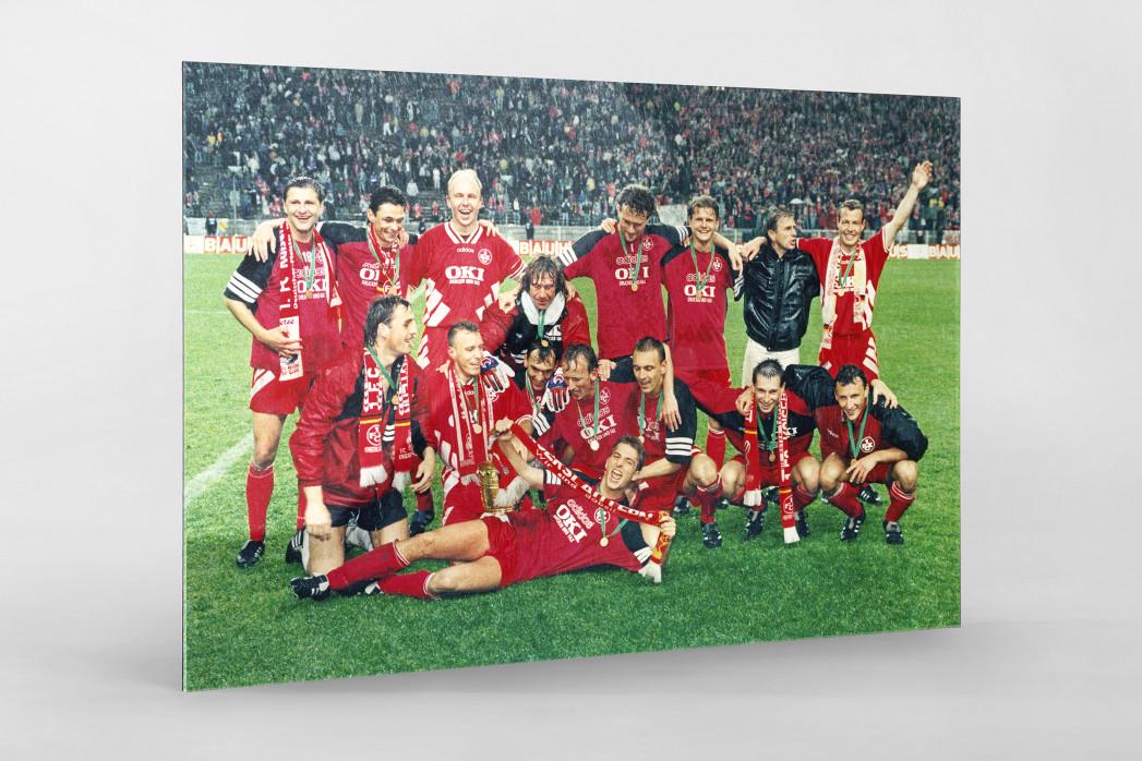 Lauterer Pokaljubel 1996 als Direktdruck auf Alu-Dibond hinter Acrylglas