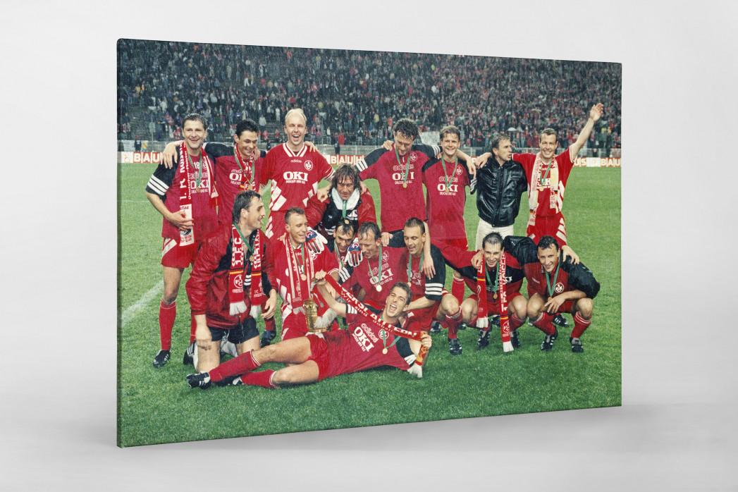 Lauterer Pokaljubel 1996 als Leinwand auf Keilrahmen gezogen