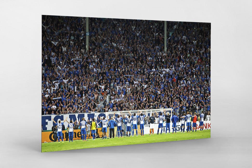 Magdeburg jubelt im Pokal als auf Alu-Dibond kaschierter Fotoabzug