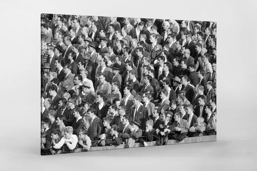 Zuschauer 1963 als Leinwand auf Keilrahmen gezogen