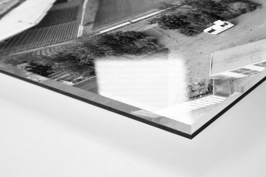 Wilhelm-Koch-Stadion als Direktdruck auf Alu-Dibond hinter Acrylglas (Detail)