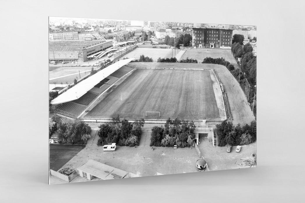 Wilhelm-Koch-Stadion als Direktdruck auf Alu-Dibond hinter Acrylglas