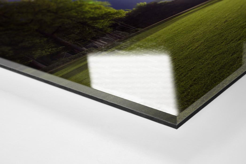 Stadion am Böllenfalltor bei Flutlicht (Farbe) als Direktdruck auf Alu-Dibond hinter Acrylglas (Detail)