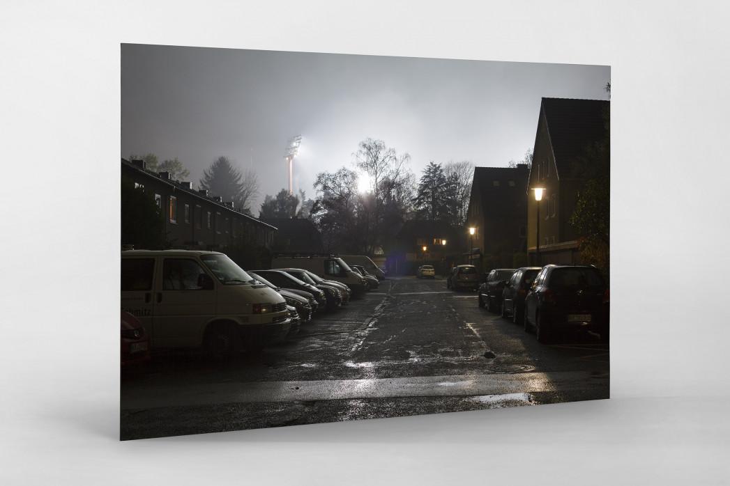 Grotenburg-Stadion bei Flutlicht als auf Alu-Dibond kaschierter Fotoabzug