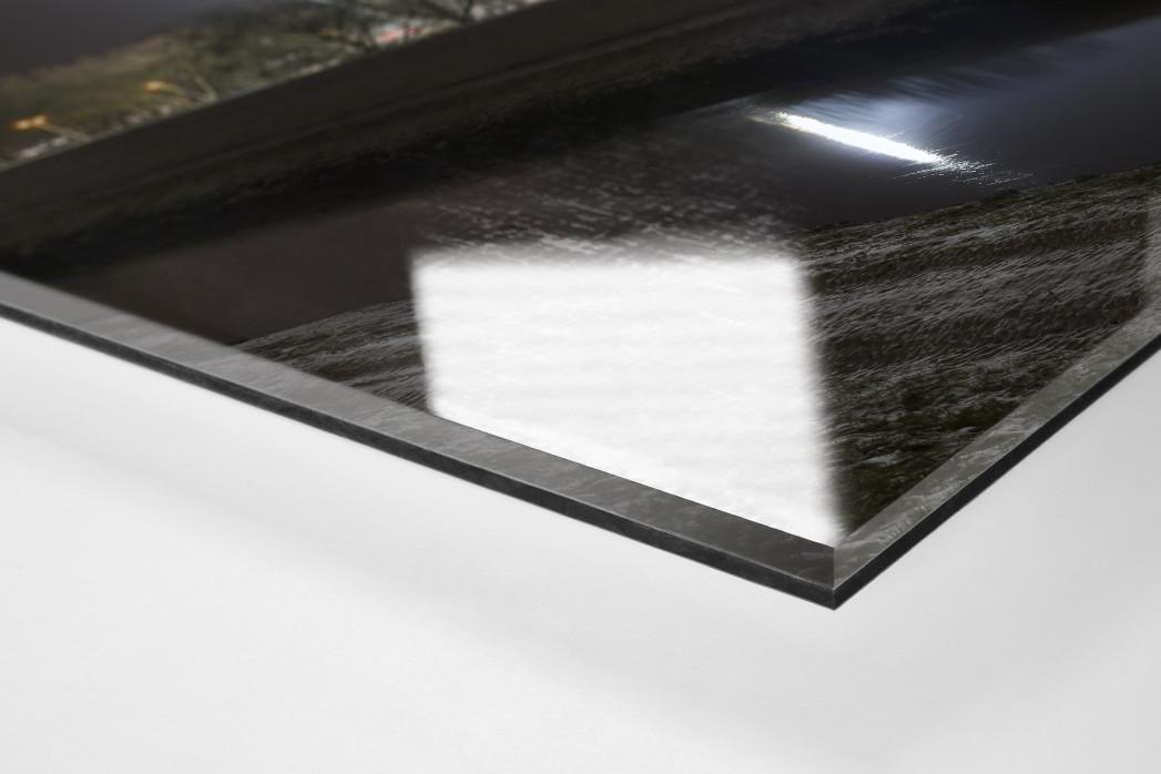 Niederrheinstadion bei Flutlicht (Farbe) als Direktdruck auf Alu-Dibond hinter Acrylglas (Detail)