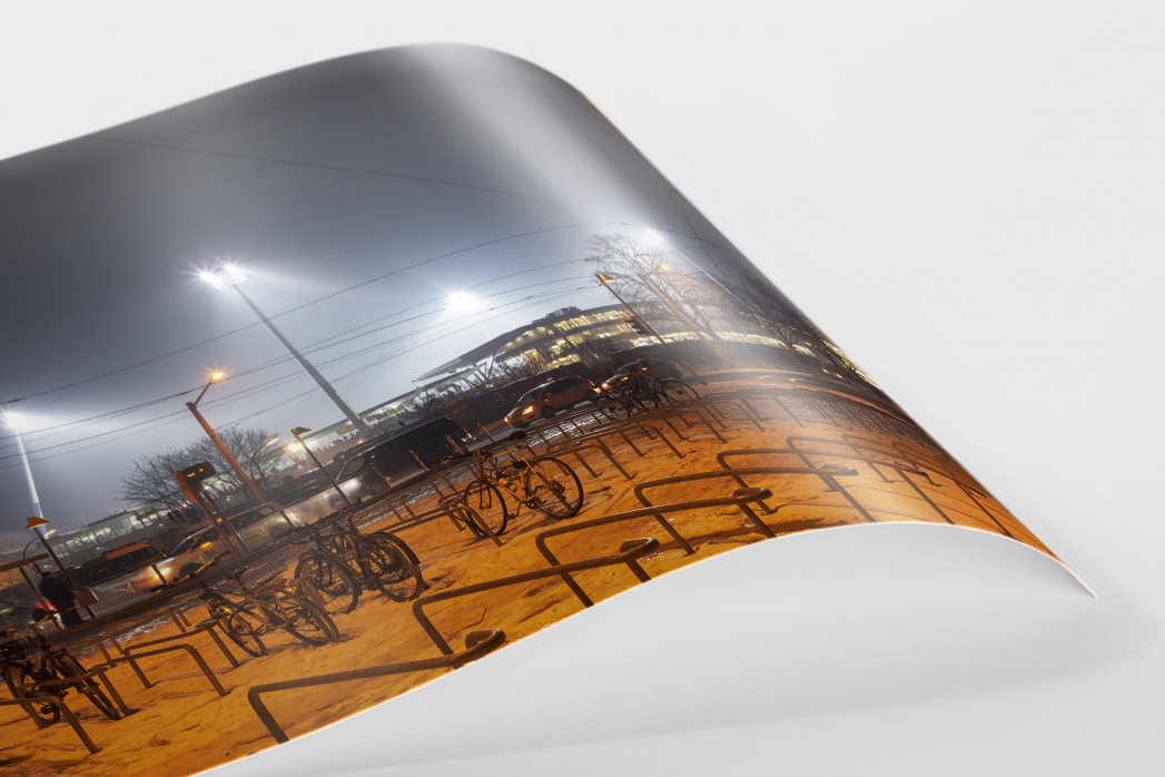 Eintracht Stadion bei Flutlicht als FineArt-Print