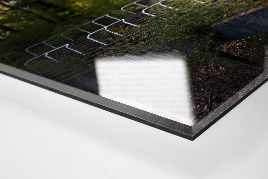 Verlassene Stadien - Marl (2) als Direktdruck auf Alu-Dibond hinter Acrylglas (Detail)