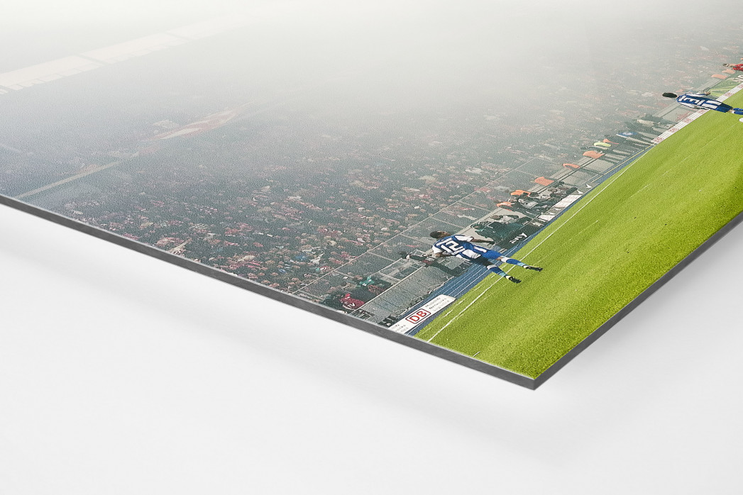 Berliner Nebel als auf Alu-Dibond kaschierter Fotoabzug (Detail)