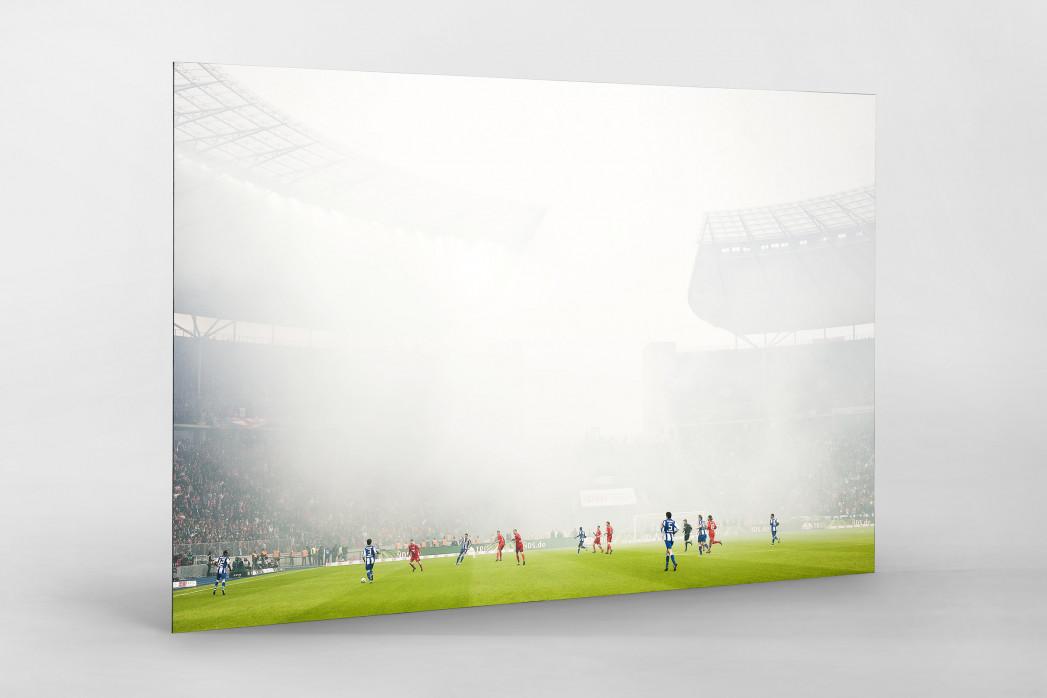 Berliner Nebel als auf Alu-Dibond kaschierter Fotoabzug
