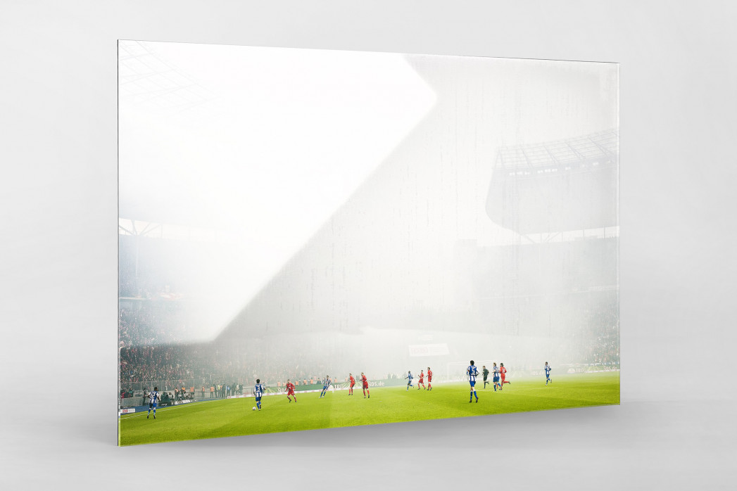 Berliner Nebel als Direktdruck auf Alu-Dibond hinter Acrylglas