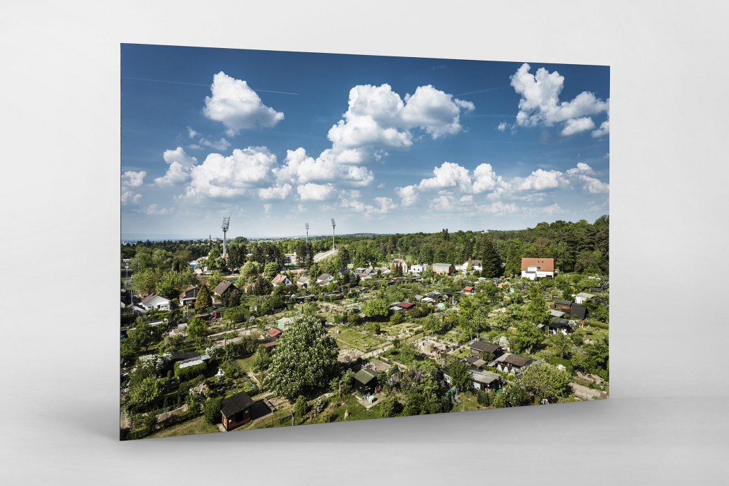 Darmstadt - Stadt und Stadion (quer) als auf Alu-Dibond kaschierter Fotoabzug