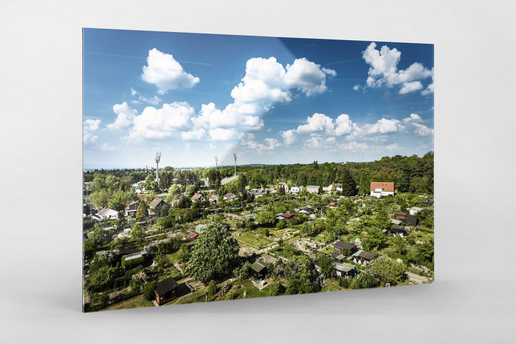 Darmstadt - Stadt und Stadion (quer) als Direktdruck auf Alu-Dibond hinter Acrylglas
