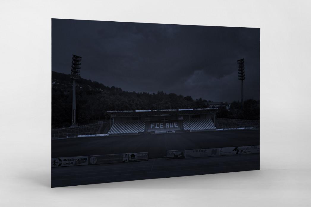 Stadien bei Nacht - Erzgebirgsstadion (1) als auf Alu-Dibond kaschierter Fotoabzug