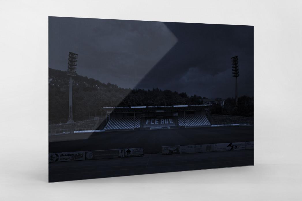Stadien bei Nacht - Erzgebirgsstadion (1) als Direktdruck auf Alu-Dibond hinter Acrylglas