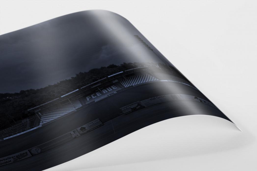 Stadien bei Nacht - Erzgebirgsstadion (1) als FineArt-Print