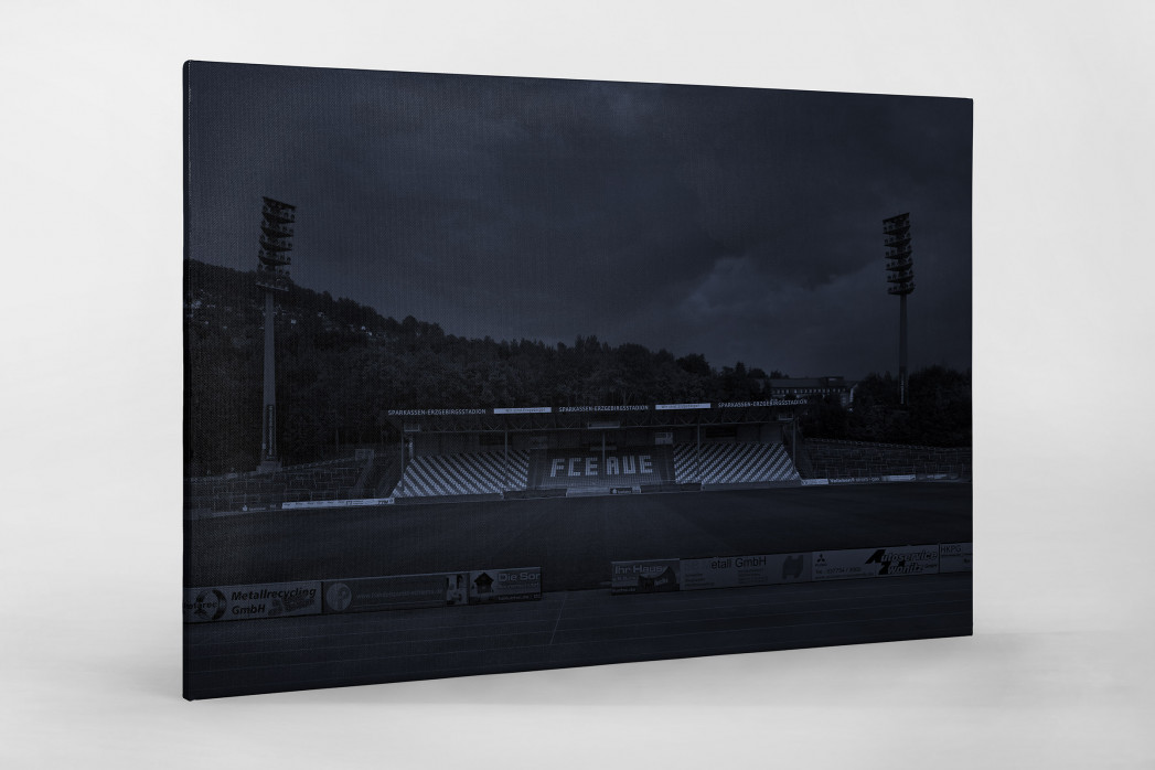 Stadien bei Nacht - Erzgebirgsstadion (1) als Leinwand auf Keilrahmen gezogen