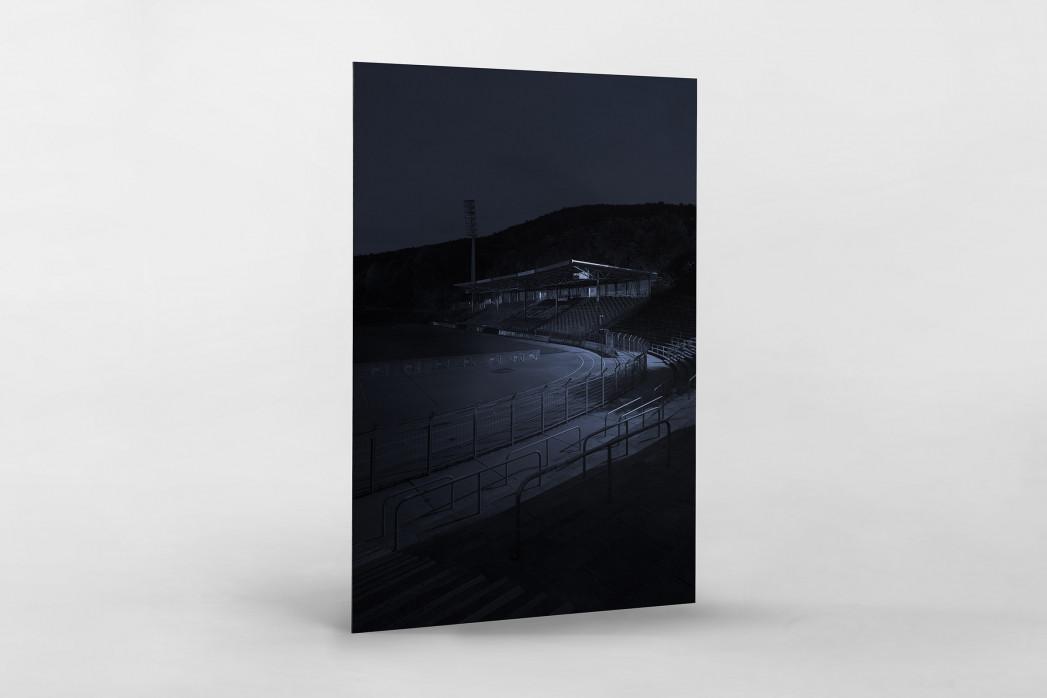 Stadien bei Nacht - Erzgebirgsstadion (2) als auf Alu-Dibond kaschierter Fotoabzug