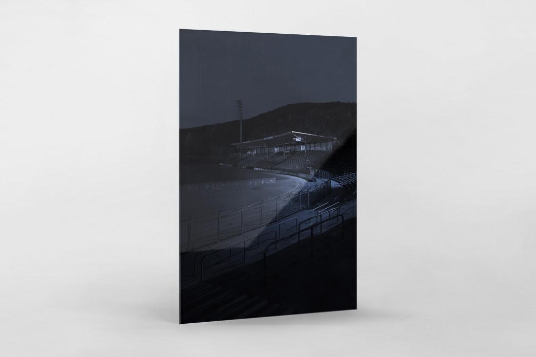Stadien bei Nacht - Erzgebirgsstadion (2) als Direktdruck auf Alu-Dibond hinter Acrylglas