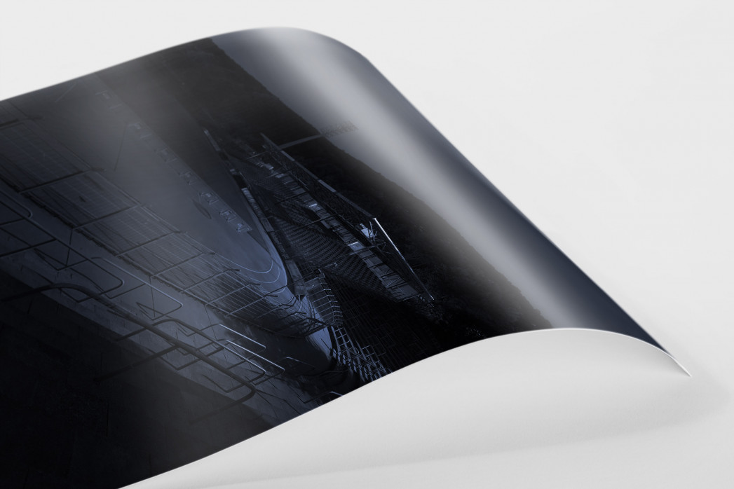 Stadien bei Nacht - Erzgebirgsstadion (2) als FineArt-Print