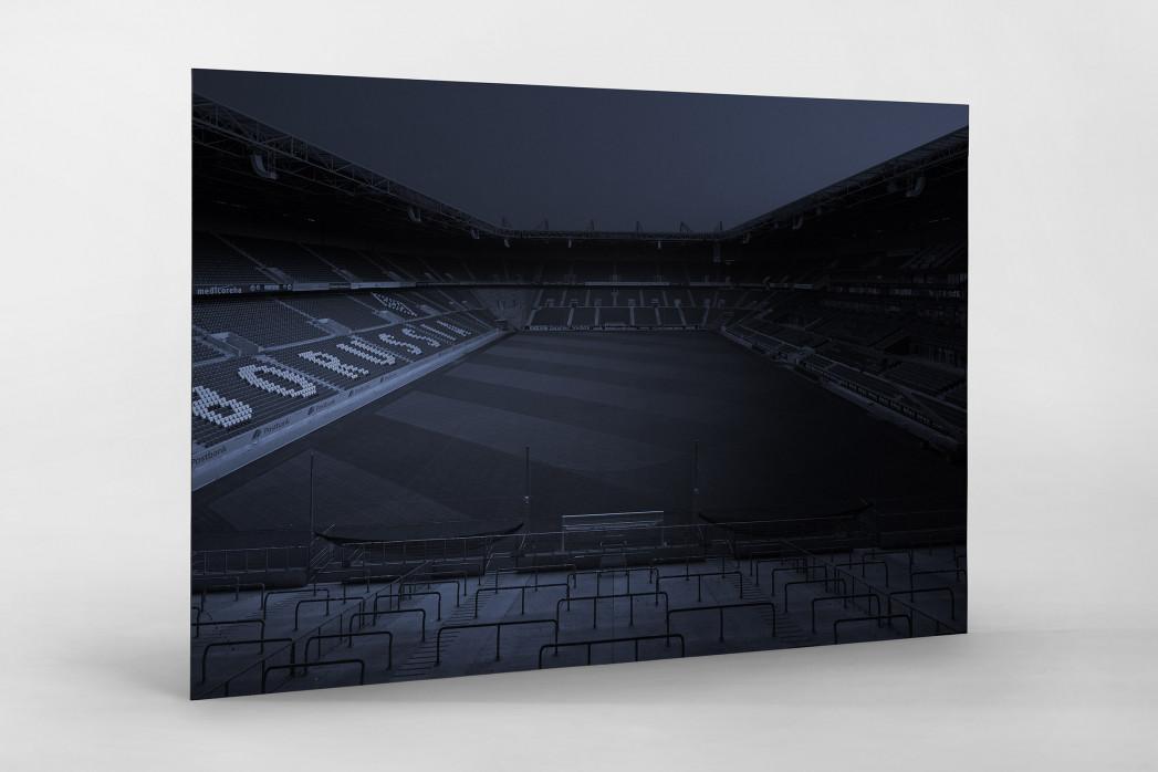 Stadien bei Nacht - Borussia Park (1) als auf Alu-Dibond kaschierter Fotoabzug