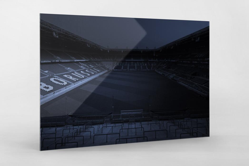 Stadien bei Nacht - Borussia Park (1) als Direktdruck auf Alu-Dibond hinter Acrylglas