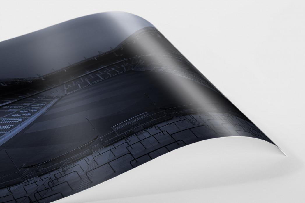 Stadien bei Nacht - Borussia Park (1) als FineArt-Print