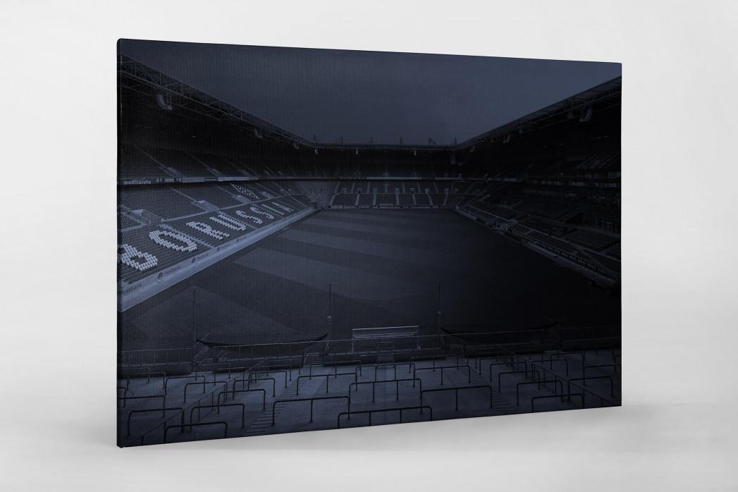 Stadien bei Nacht - Borussia Park (1) als Leinwand auf Keilrahmen gezogen
