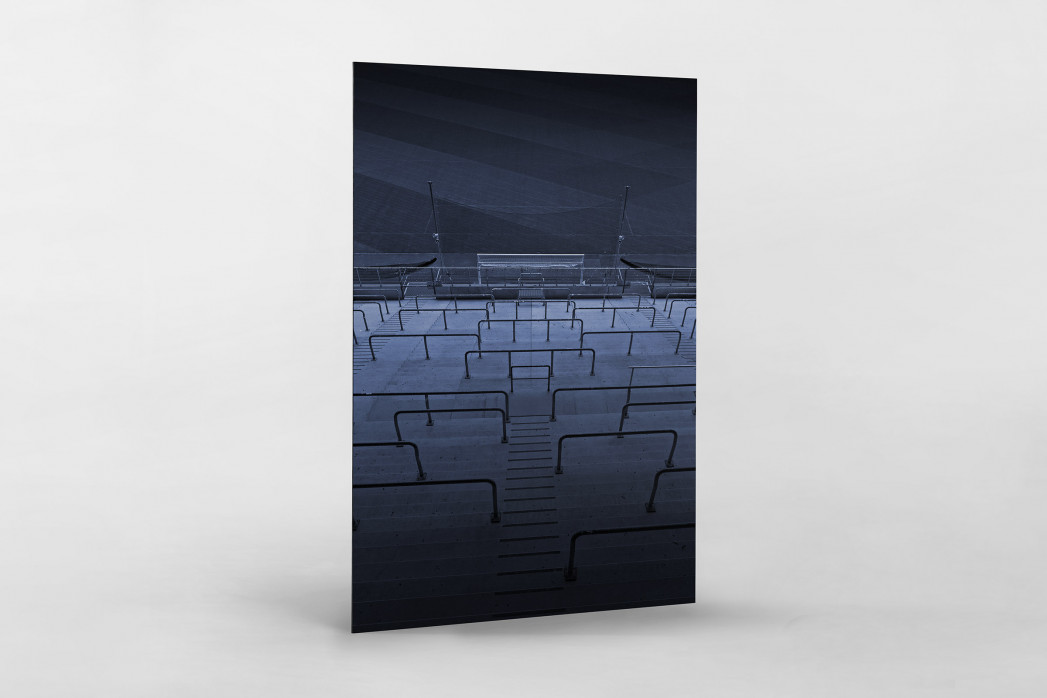 Stadien bei Nacht - Borussia Park (2) als auf Alu-Dibond kaschierter Fotoabzug