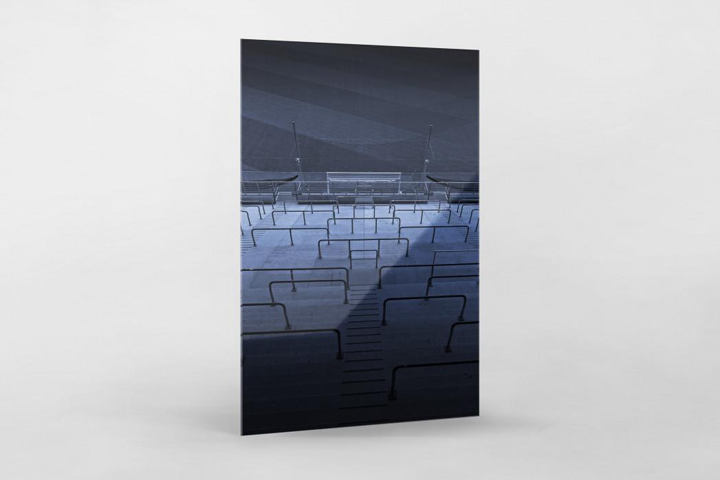 Stadien bei Nacht - Borussia Park (2) als Direktdruck auf Alu-Dibond hinter Acrylglas