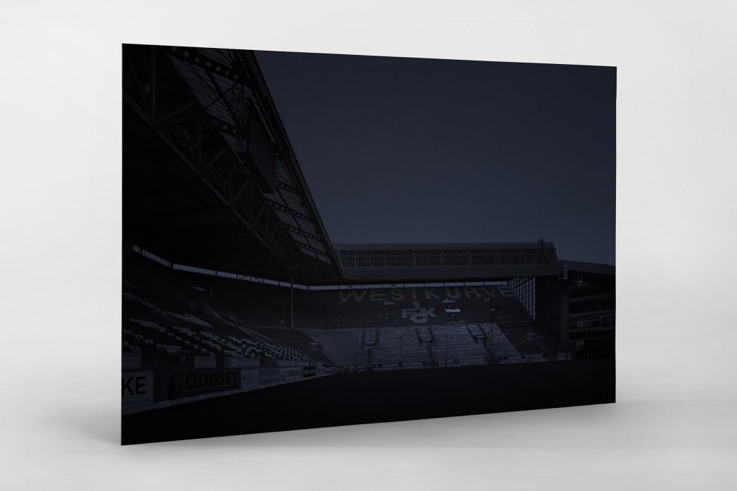 Stadien bei Nacht - Betzenberg (1) als auf Alu-Dibond kaschierter Fotoabzug