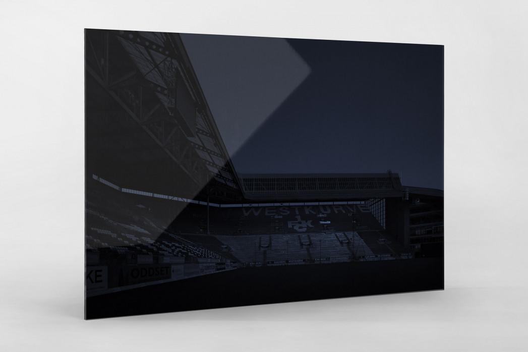 Stadien bei Nacht - Betzenberg (1) als Direktdruck auf Alu-Dibond hinter Acrylglas