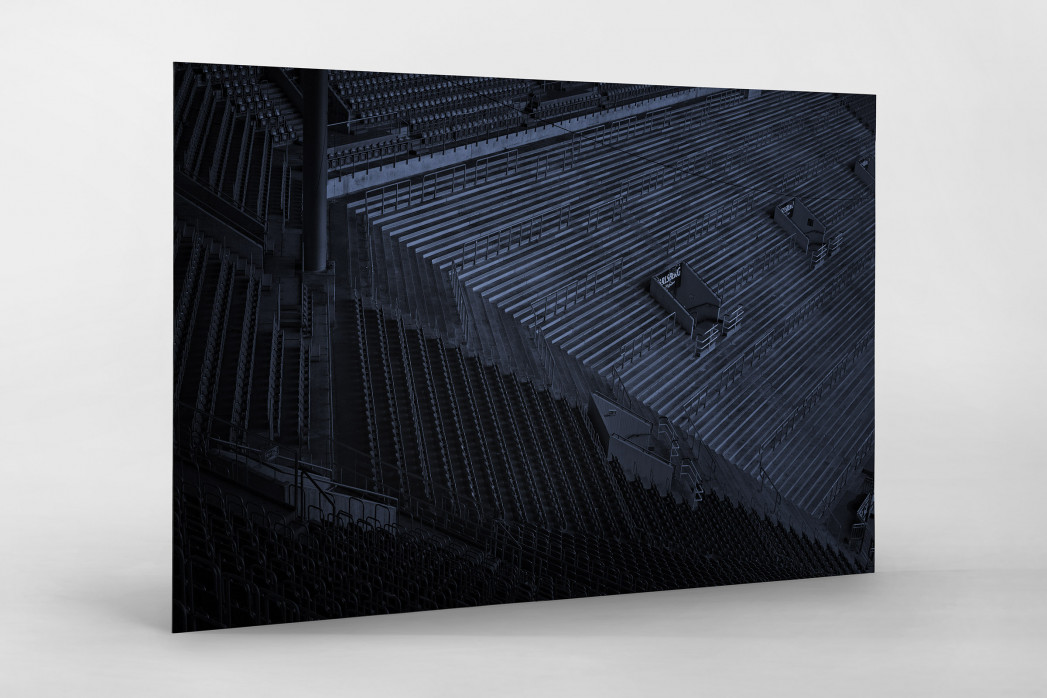 Stadien bei Nacht - Betzenberg (2) als auf Alu-Dibond kaschierter Fotoabzug