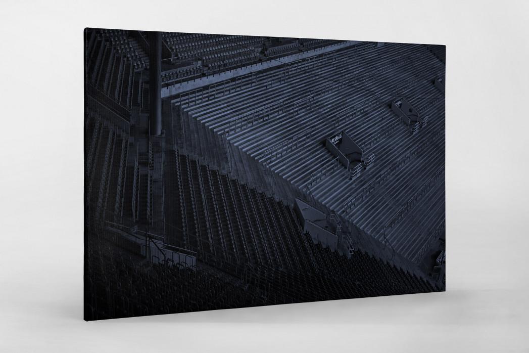 Stadien bei Nacht - Betzenberg (2) als Leinwand auf Keilrahmen gezogen