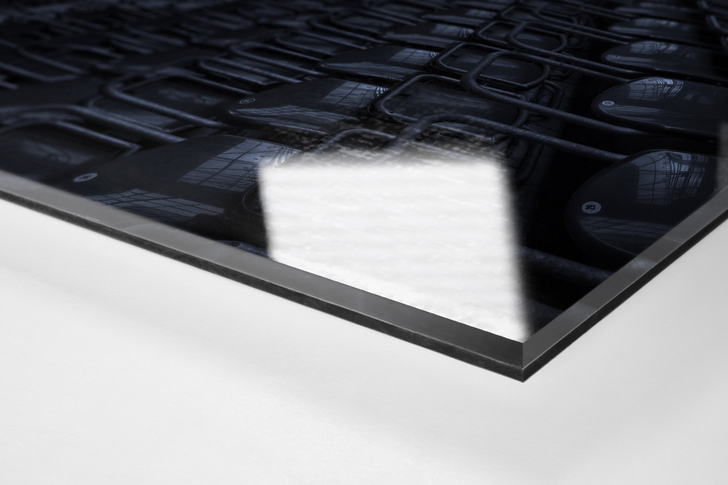 Stadien bei Nacht - Betzenberg (3) als Direktdruck auf Alu-Dibond hinter Acrylglas (Detail)