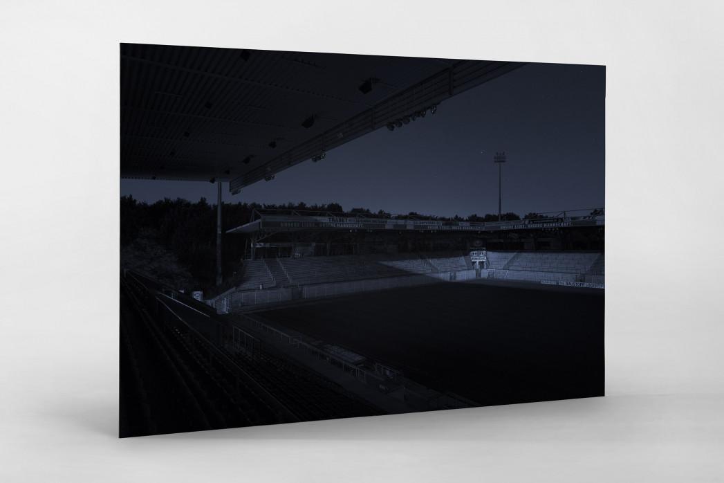 Stadien bei Nacht - Alte Försterei (1) als auf Alu-Dibond kaschierter Fotoabzug