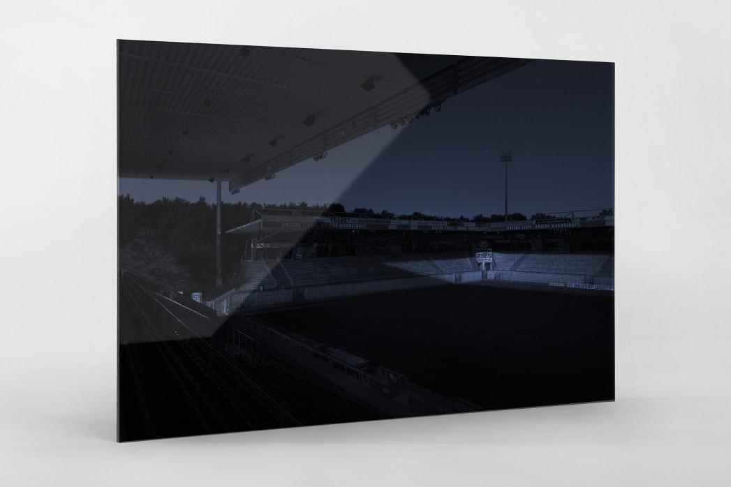 Stadien bei Nacht - Alte Försterei (1) als Direktdruck auf Alu-Dibond hinter Acrylglas
