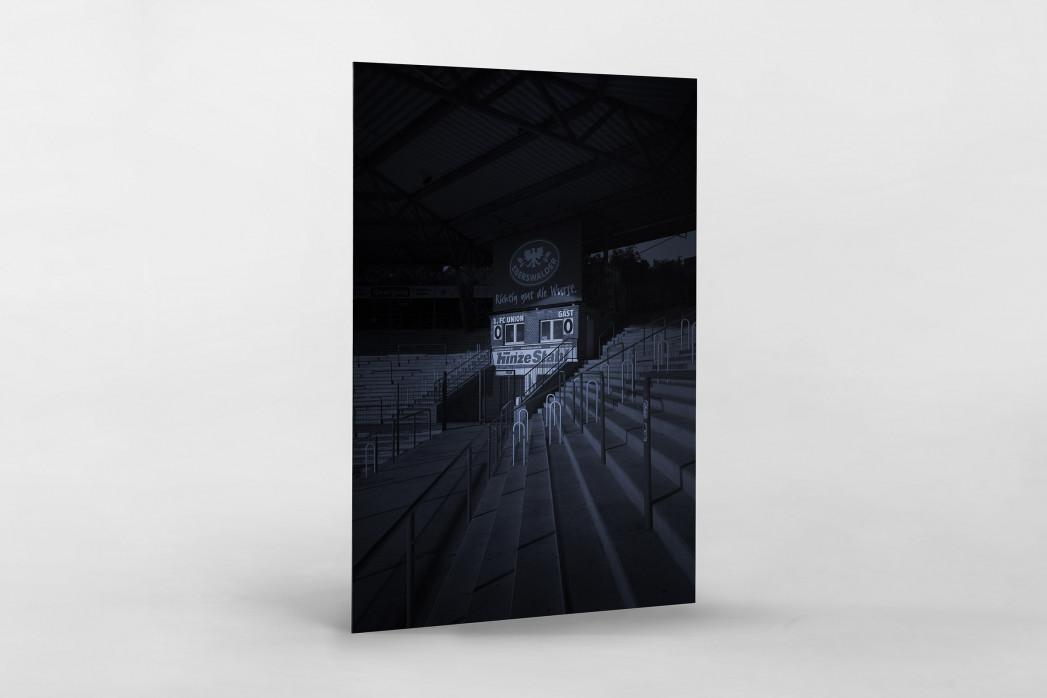 Stadien bei Nacht - Alte Försterei (2) als auf Alu-Dibond kaschierter Fotoabzug