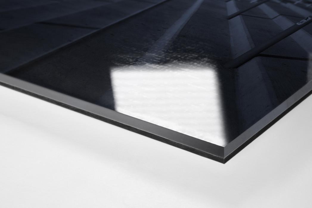 Stadien bei Nacht - Alte Försterei (2) als Direktdruck auf Alu-Dibond hinter Acrylglas (Detail)