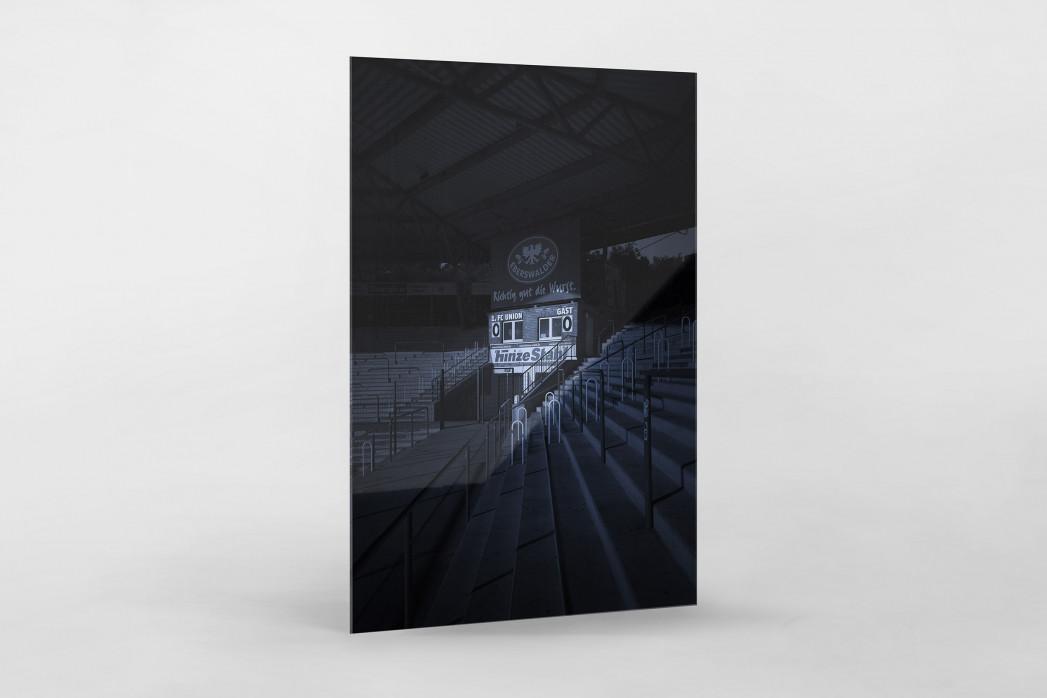 Stadien bei Nacht - Alte Försterei (2) als Direktdruck auf Alu-Dibond hinter Acrylglas