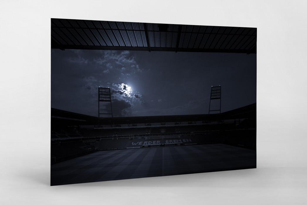 Stadien bei Nacht - Weserstadion (1) als auf Alu-Dibond kaschierter Fotoabzug