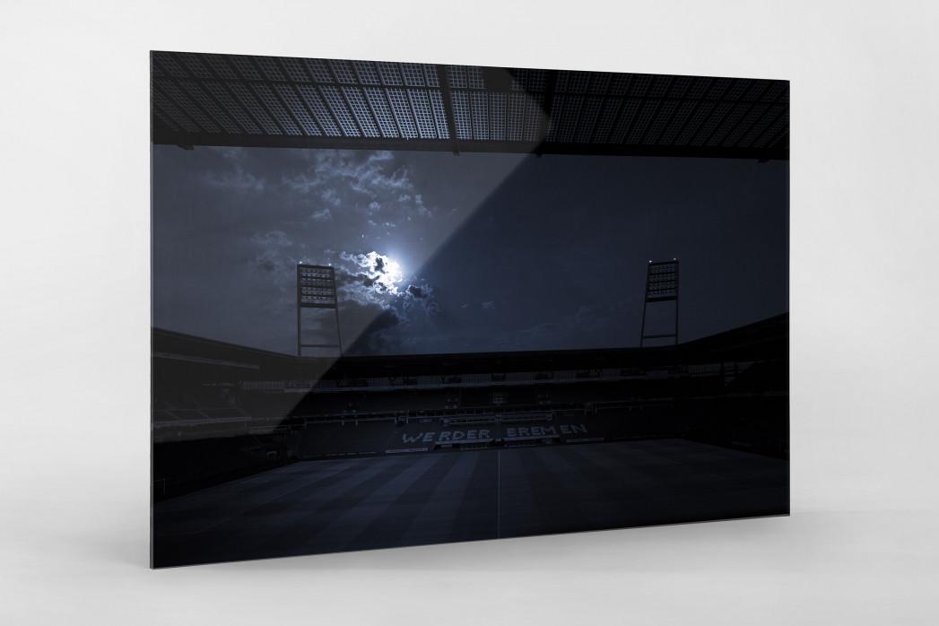 Stadien bei Nacht - Weserstadion (1) als Direktdruck auf Alu-Dibond hinter Acrylglas