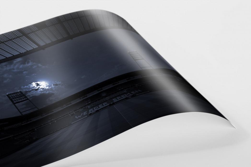 Stadien bei Nacht - Weserstadion (1) als FineArt-Print